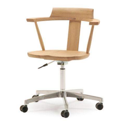 ■SD1A-NW desk chair■W595×D505×H728〜838・SH440〜550・AH668〜778■オーク