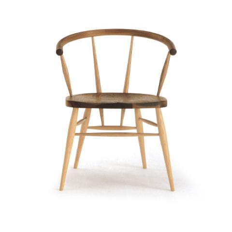 ■W512 cafe chair■W590×D500×H730・SH430・AH680■ウォールナット+オーク/オーク