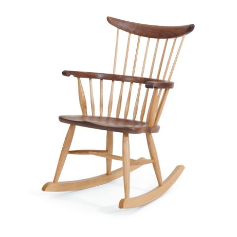 ■W556 comb back rocking chair■W580×D735×H890・SH420・AH625■ウォールナット+オーク/オーク