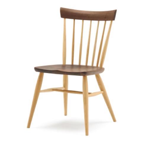 ■SC4K fan back chair■W475×D515×H805・SH430■ウォールナット+オーク/オーク/ブナ