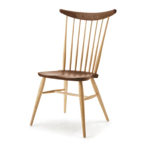 ■W552 comb back side chair■W560×D550×H935・SH430■ウォールナット+オーク/オーク