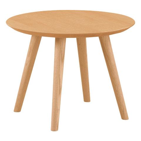 ■JYT49■サイドテーブル(M)■W610×D610×H450・φ600■ウォールナット/ウォールナット+オーク/オーク/ブナ